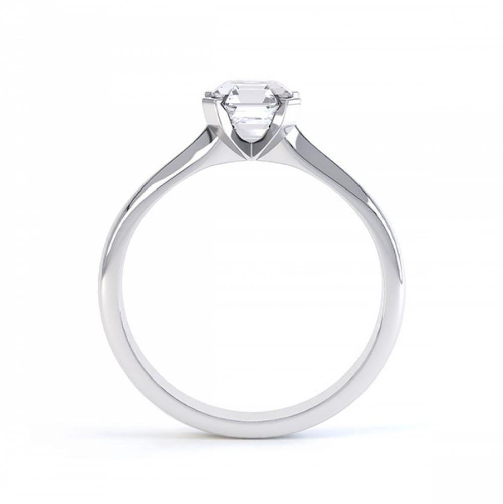 Asscher Cut Diamond Solitaire Side