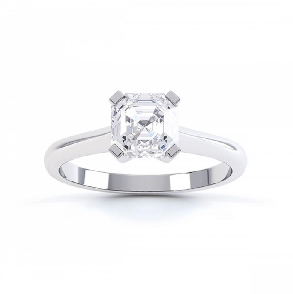 Asscher Cut Diamond Solitaire Top