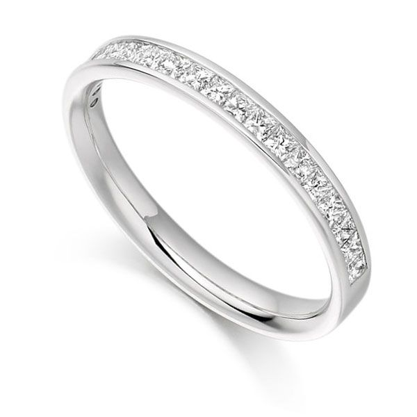 0.65cts Princess Cut Diamond Eternity Ring Main Image