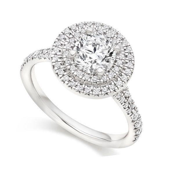 Round Double Halo Engagement Ring Main Image