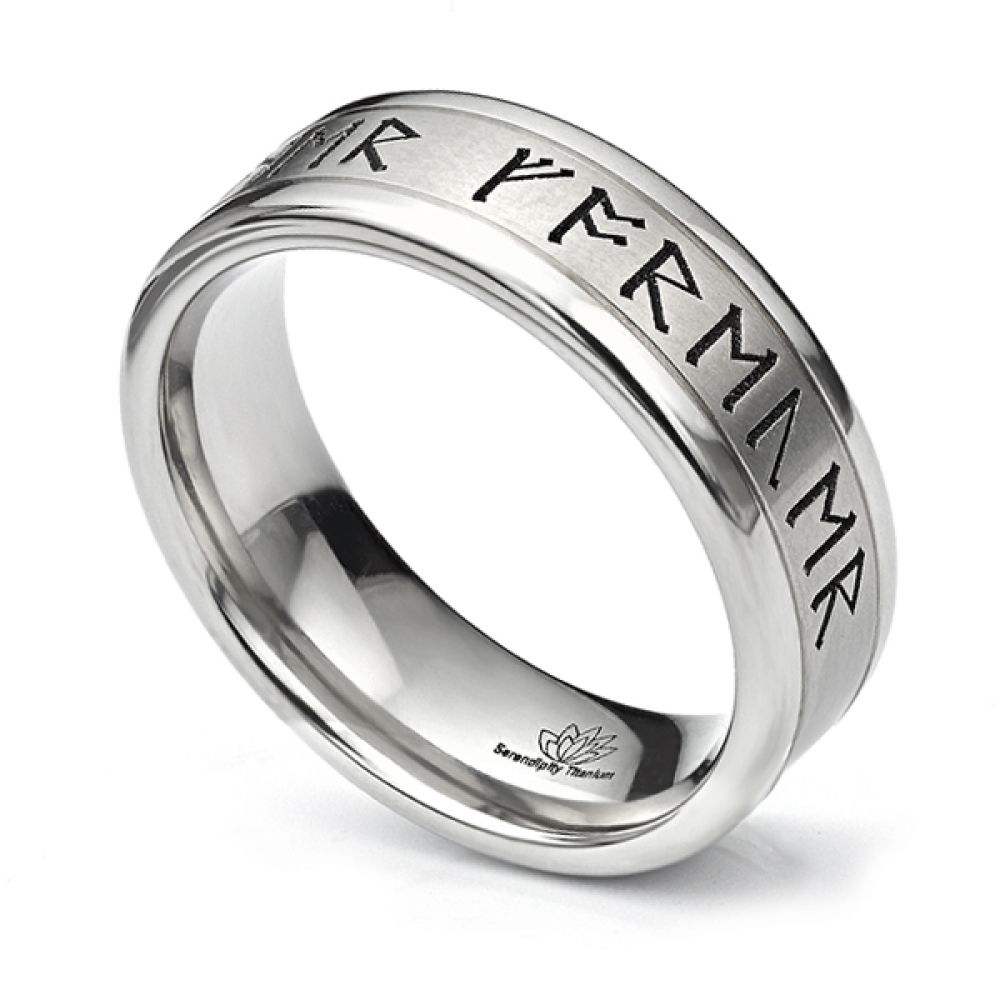 Rune engraved wedding ring