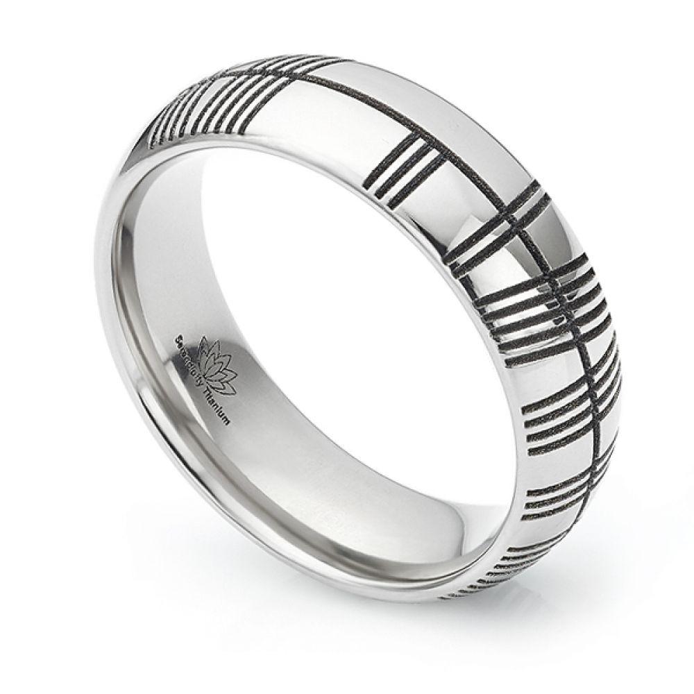 Ogham engraved wedding ring