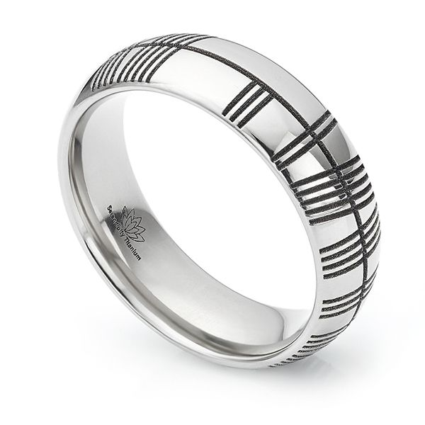Ogham Engraved Wedding Ring Main Image