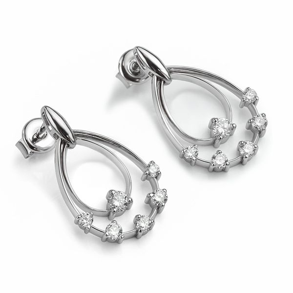 Double Hoop Diamond Earrings Main Image