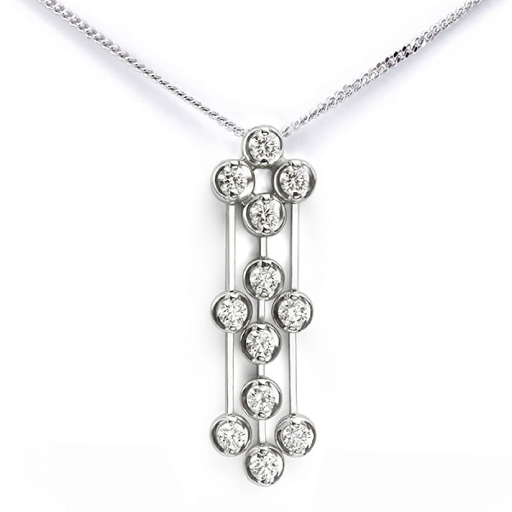 Art Deco diamond drop pendant