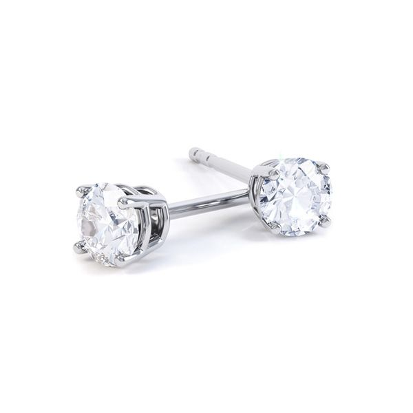4 Claw Diamond Stud Earrings Main Image