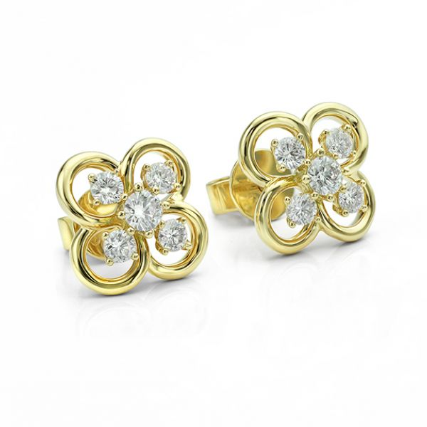 Blossom Diamond Earrings Main Image