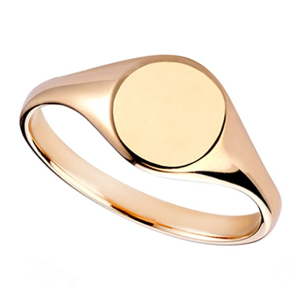 Small Oval Signet Ring Main Image
