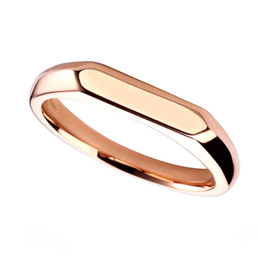Elongated Hex Signet ring 3mm