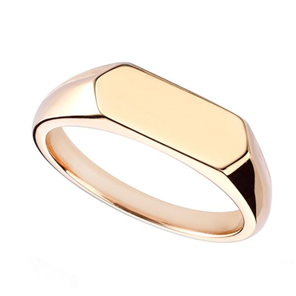 Medium Hexagonal Signet Ring Main Image