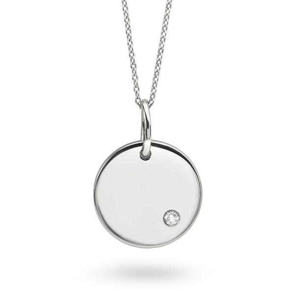 Gold Disc Necklace Main Image