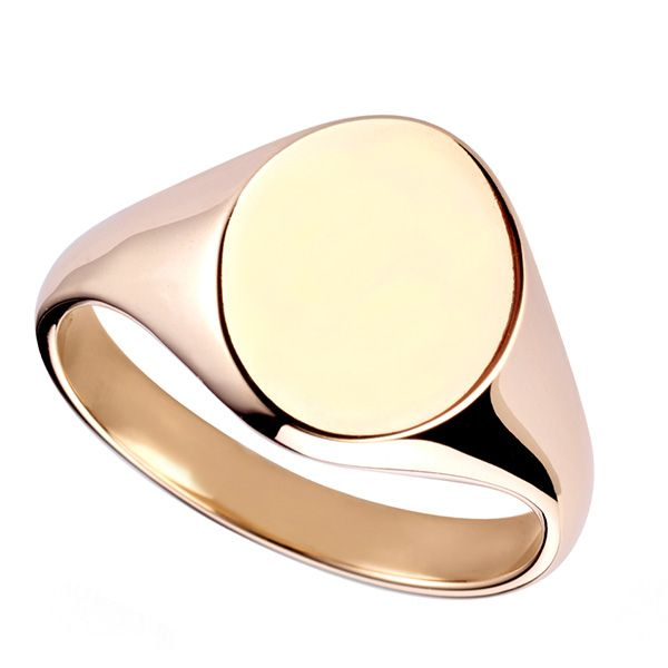Oval Mens Signet Ring  Main Image