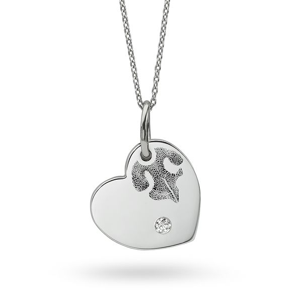 Nose Print Heart Necklace Main Image