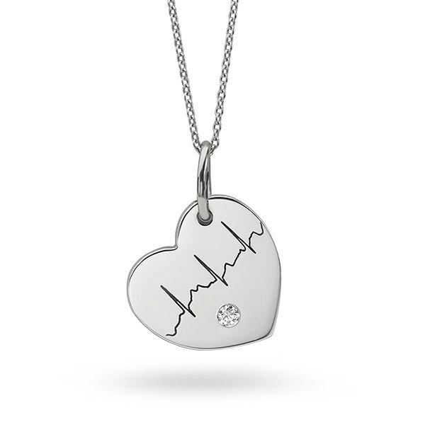 Diamond Heartbeat Necklace Main Image