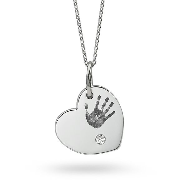 Hand Print Diamond Necklace Main Image