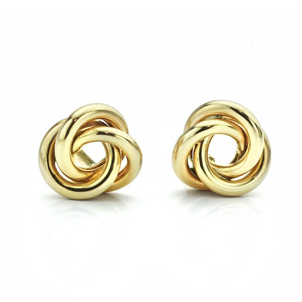 Yellow Gold Knot Earrings Main Image