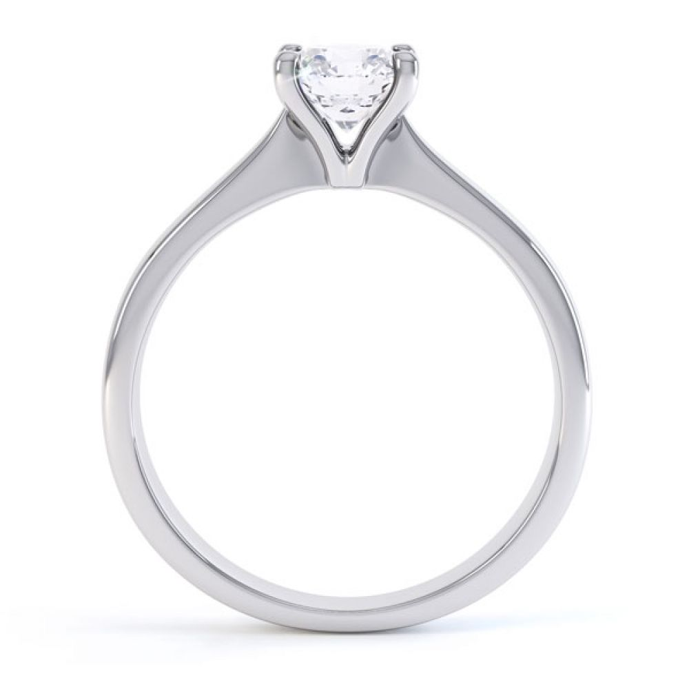 4 Claw Wedfit Round Solitaire Engagement Ring Side View