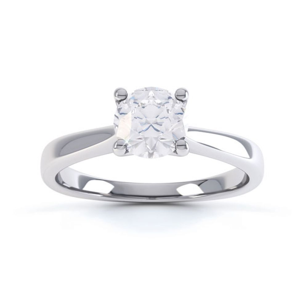 4 Claw Wedfit Round Solitaire Engagement Ring Top