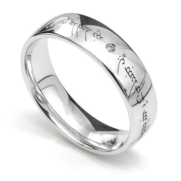 Elvish Engraved Wedding Ring Main Image