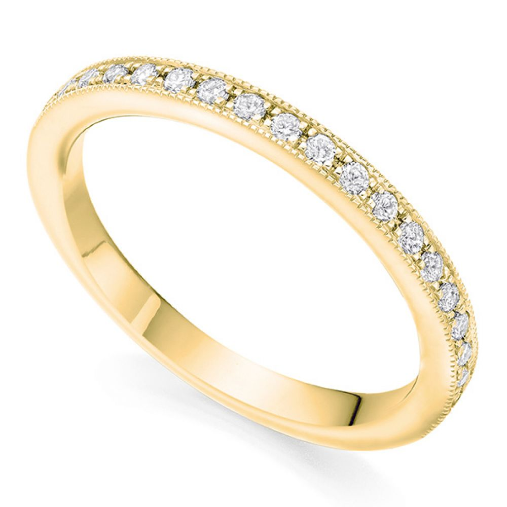 Grain Set Wedding ring - Yellow Gold