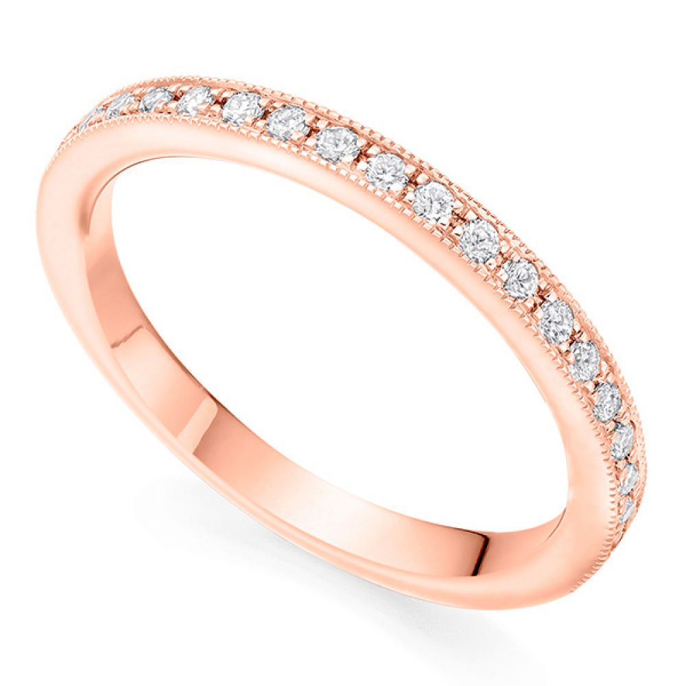 Grain Set Wedding ring - Rose Gold