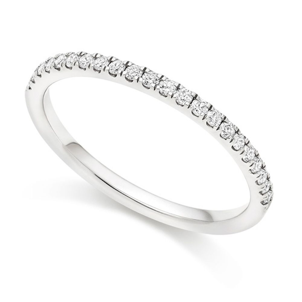 Micro-Claw Wedding ring - White