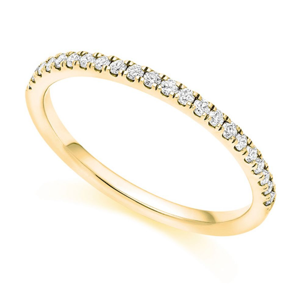 Micro-Claw Wedding ring - yellow