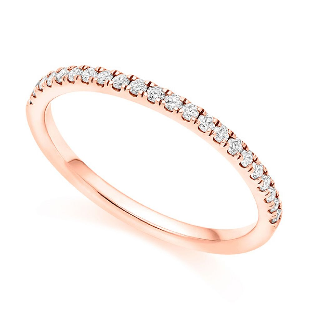 Micro-Claw Wedding ring - Rose