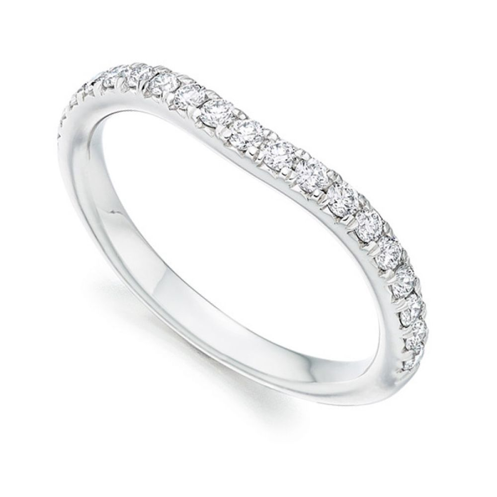 Matching Shaped Wedding Ring - White