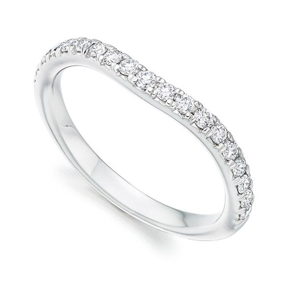 Curved Diamond Set Wedding band Main Image
