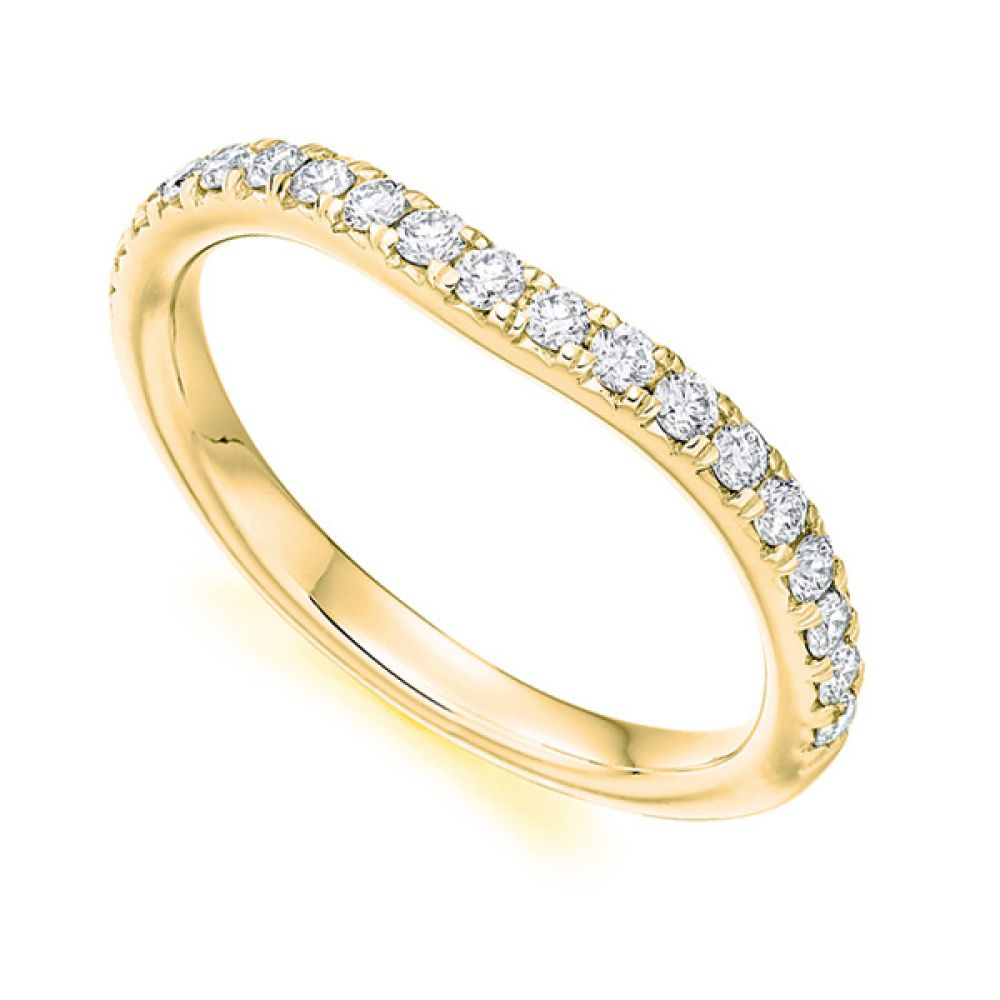 Matching Shaped Wedding Ring - Yellow