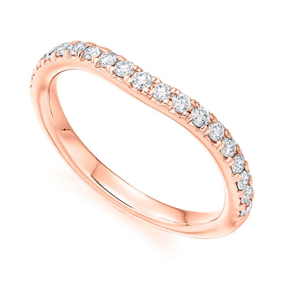 Matching Shaped Wedding Ring - Rose
