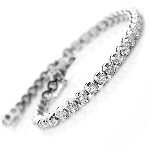 Claw Set Diamond Line Bracelet