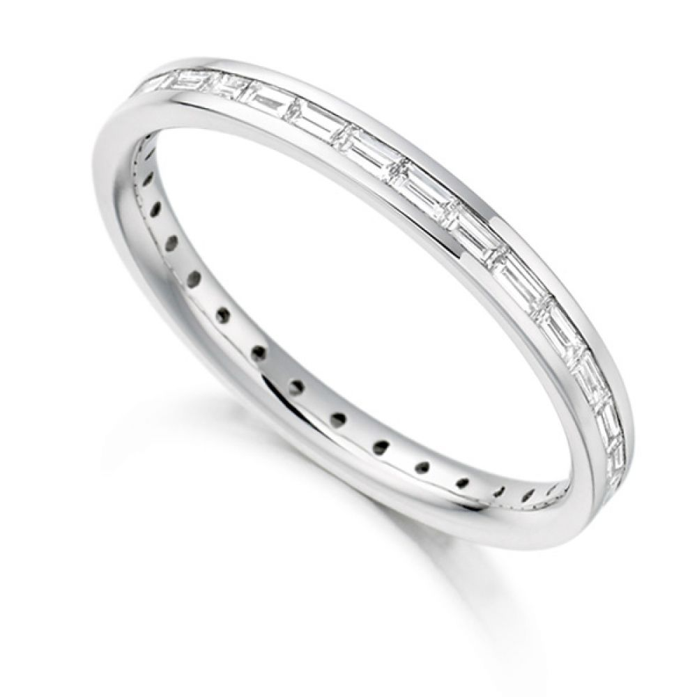 0 60cts Baguette Cut Diamond Full Eternity Ring