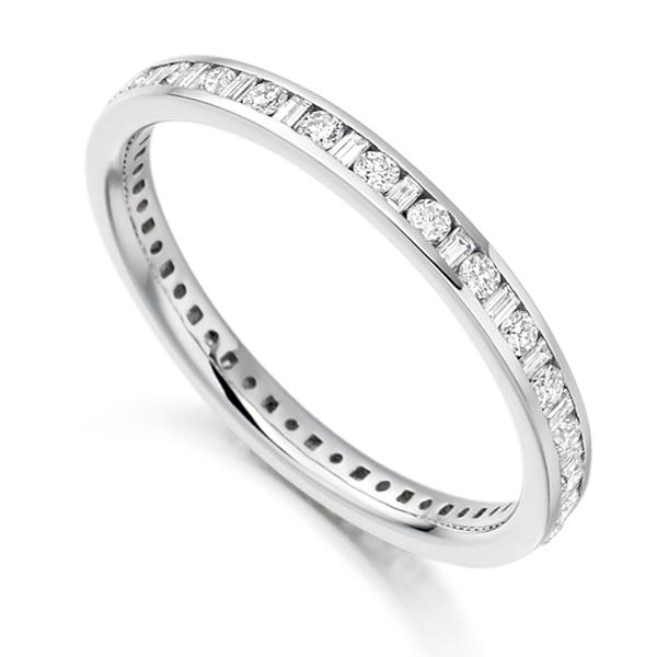 0.50cts Baguette & Round Diamond Full Eternity Ring