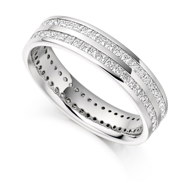 1.50cts Full Diamond Eternity Ring with Double Channel