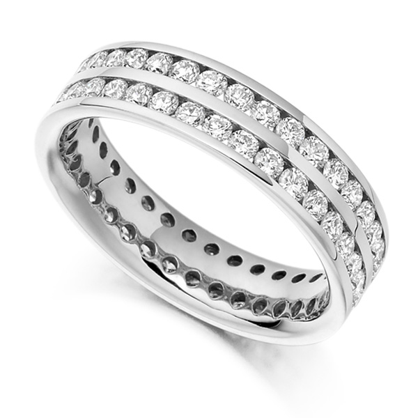 1.56ct Double Channel Full Diamond Eternity Ring