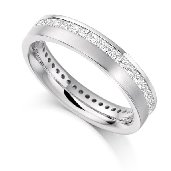 1 Carat Offset Channel Full Diamond Eternity Ring