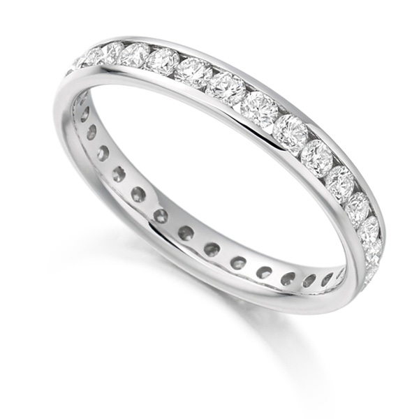 1 Carat Round Brilliant Full Diamond Eternity Ring