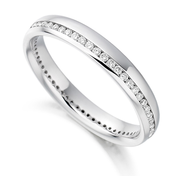 0.31cts Round Diamond Offset Channel Eternity Ring
