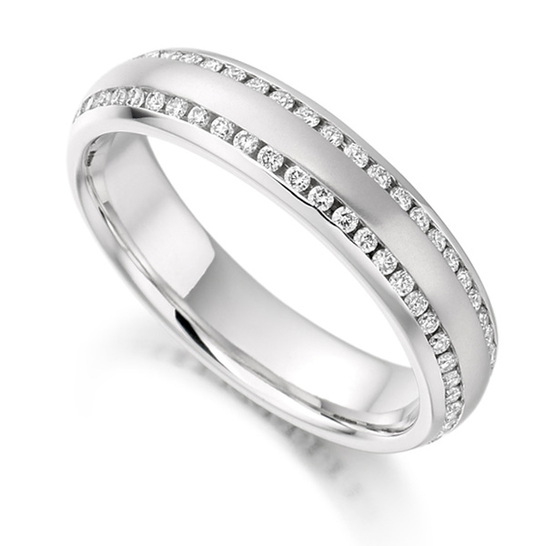 0.50ct Double Edged Channel Set Diamond Eternity Ring
