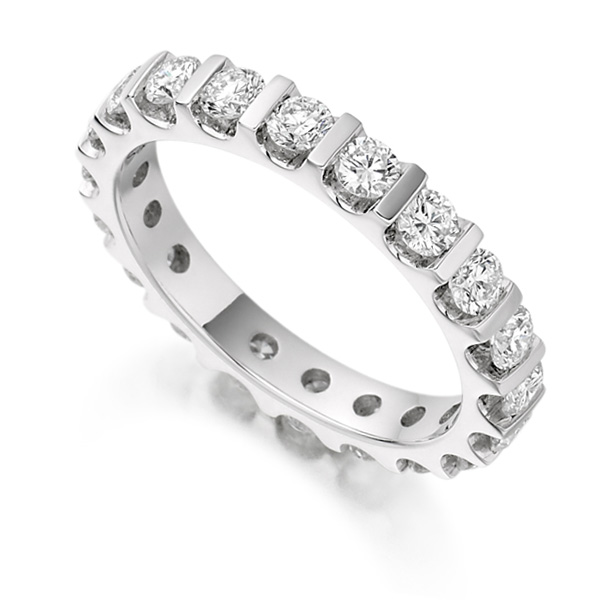 1.50cts Full Diamond Eternity Ring with Bar Setting