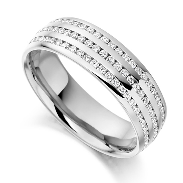 1 Carat 3 Row Channel Set Full Eternity ring