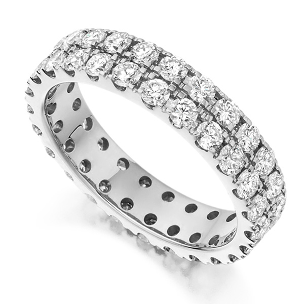 2 Carat 2 Row Pavé Diamond Full Eternity Ring