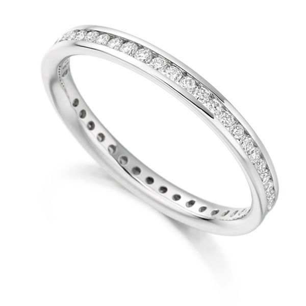 0.41cts Full Diamond Eternity Ring with Channel Setting