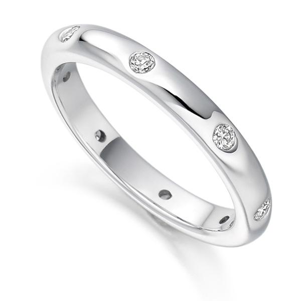 0.24ct Flush Set 3mm Full Diamond Eternity Ring