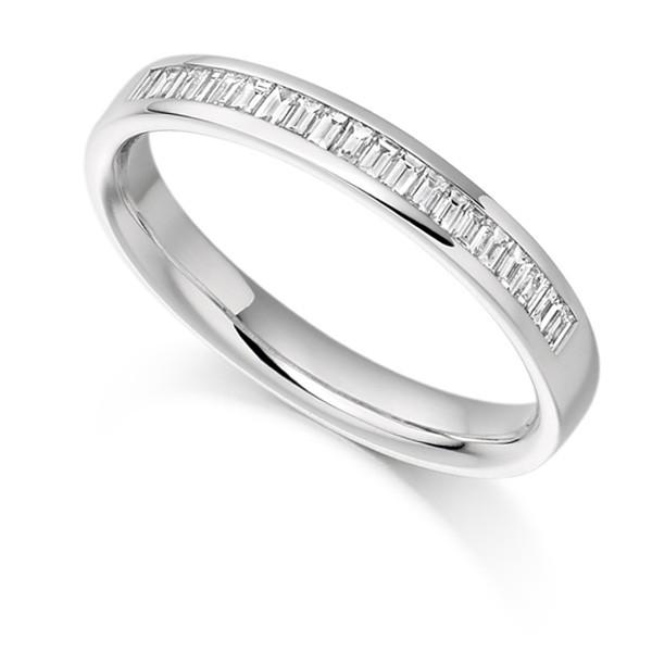 0 25ct Half Channel Baguette Diamond Eternity Ring