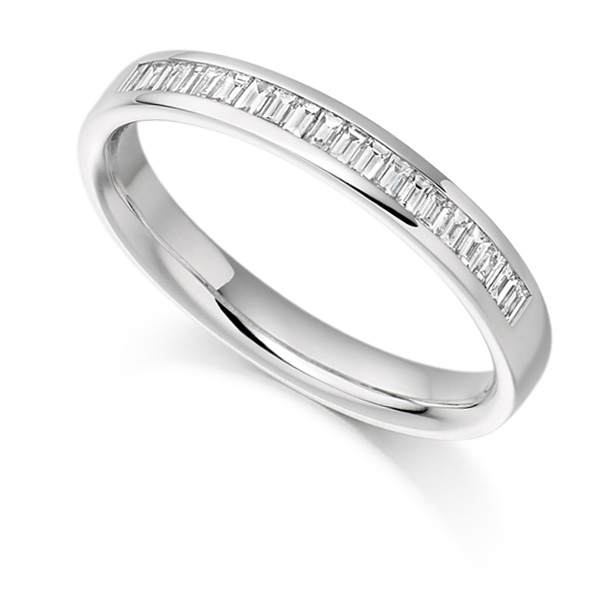 0.25cts Half Channel Set Baguette Diamond Eternity Ring