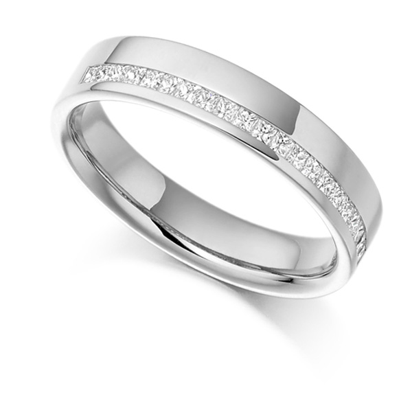 0.25cts Offset Channel Princess Half Eternity Ring