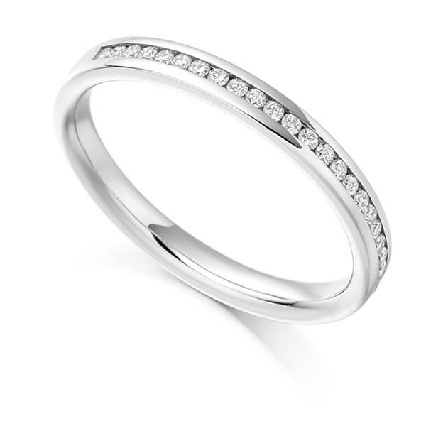 0.15ct Round Diamond Half Eternity Ring